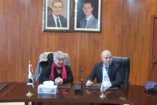 رئيس مجلس أمناء شبكة العلماء السوريين في المغترب في زيارة للهيئة
